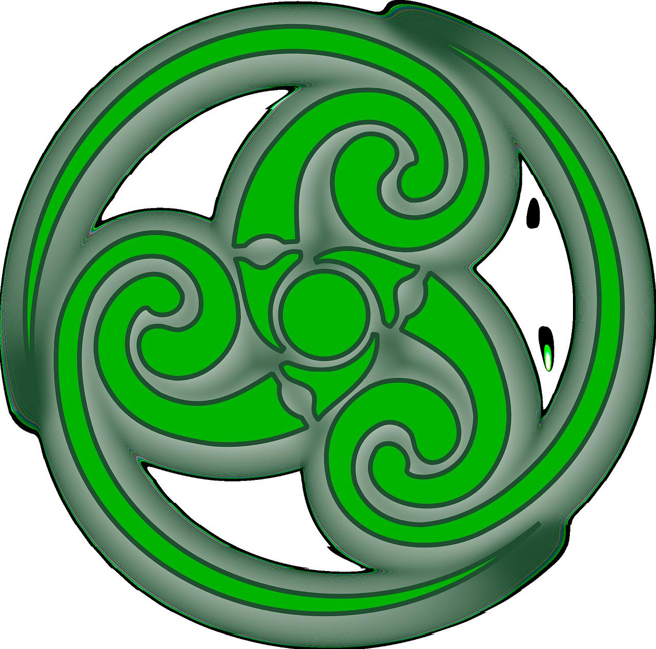 Узор трилистник кругу