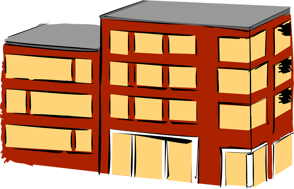 Apartment Building Graphic free vector graphic: apartment, brick, building, flat - free image