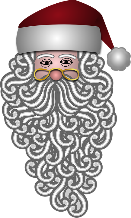 Transparent Santa Beard