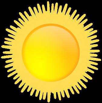 Aurinko, Aurinkoinen, Sää