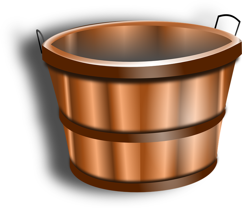 Bucket Water Tub 183 Free Vector Graphic On Pixabay