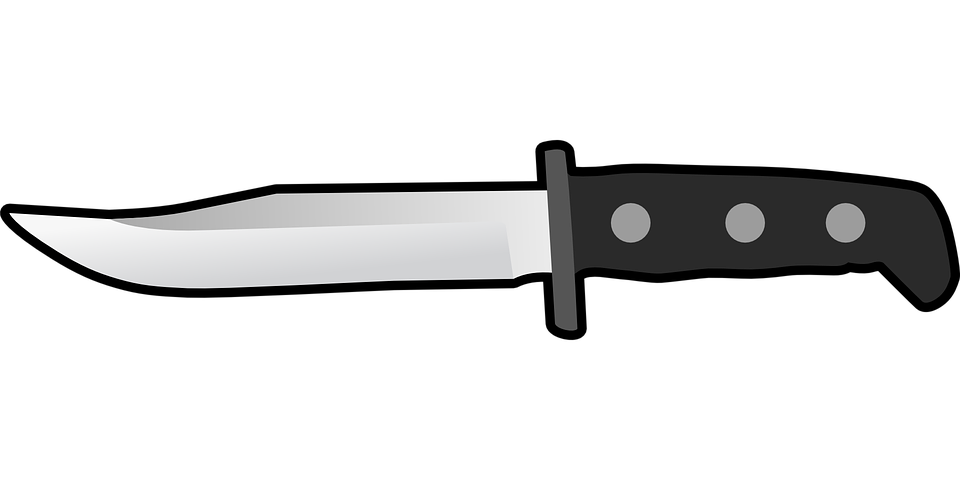 Kostenlose Vektorgrafik: Besteck, Wohnung, Messer, Scharf