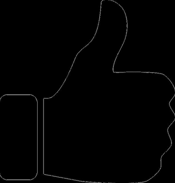 Like Facebook Logo Black And White Image vectorielle grat...