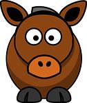 horse, cow, animal