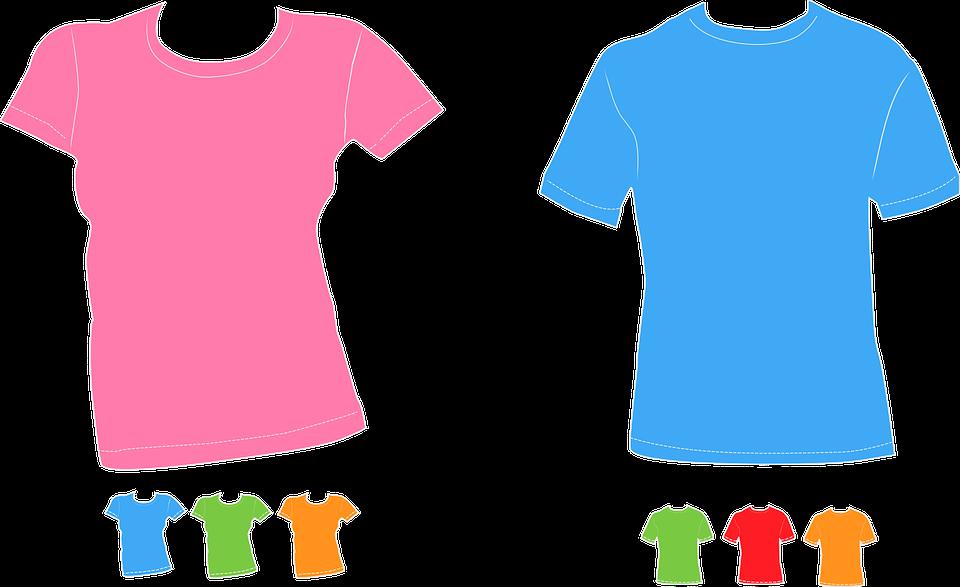 เสื้อ เสื้อยืด ที่มีสีสัน · กราฟิกแบบเวกเตอร์ฟรีบน Pixabay