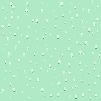 Raindrops Drops Wall Background Green
