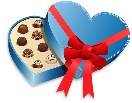 Box, Food, Love, Pralines, Sweet
