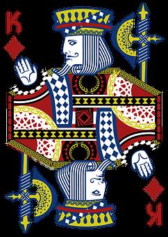 King, Card, Casino, Diamond, Gamble