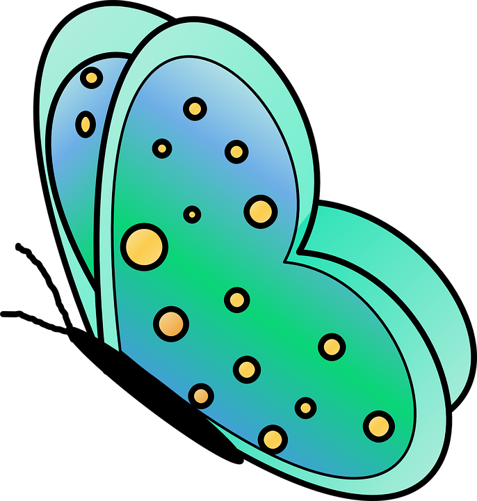 Butterfly Cute Green Free Vector Graphic On Pixabay