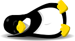penguin, linux, sleeping
