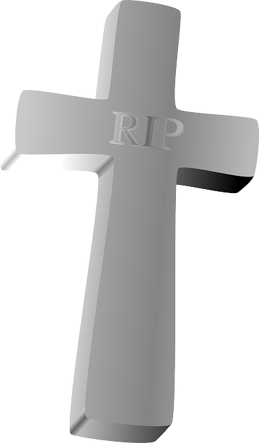 free vector graphic cross rip dead death funeral