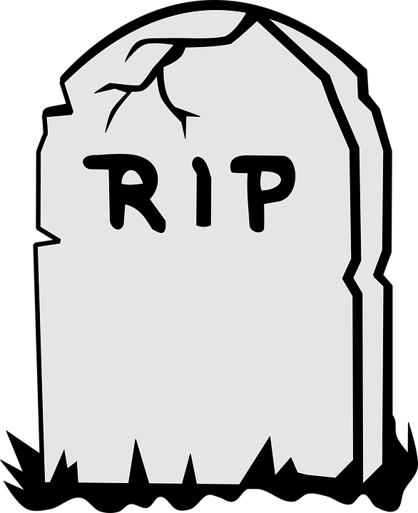 tombstone rip dead free vector graphic on pixabay