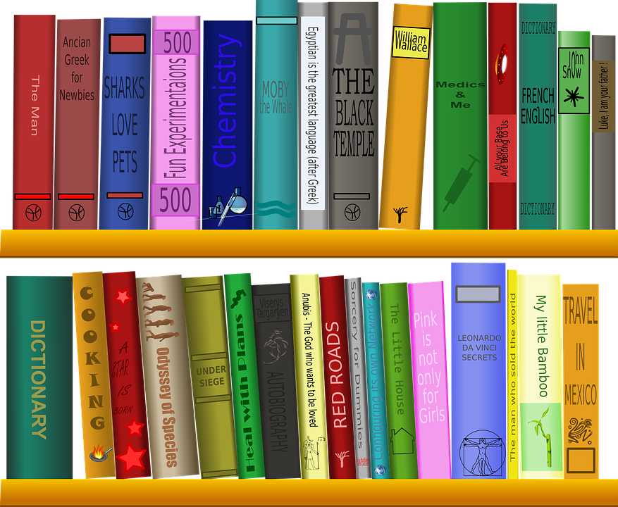 Shelf Books Library Free Vector Graphic On Pixabay