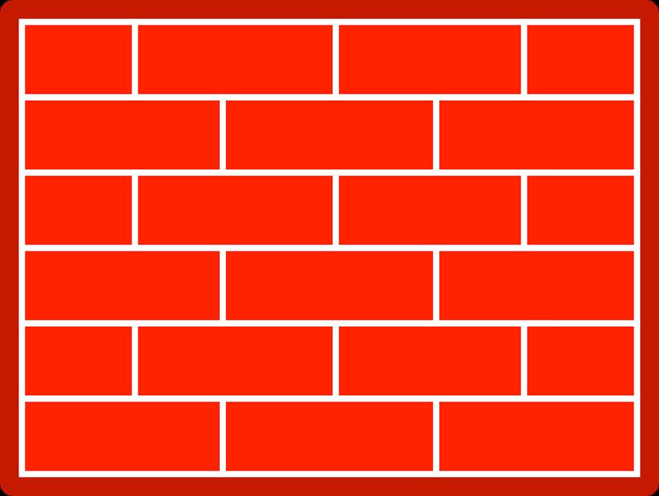 Gambar Vektor Gratis Dinding Batu Bata Merah Gambar