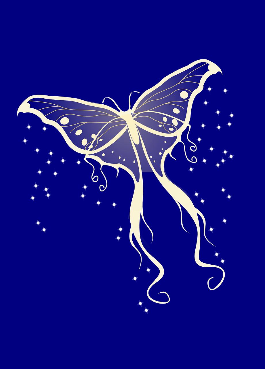 Картинка светящиеся бабочки