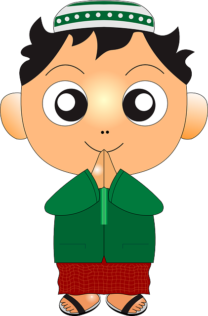 Kid Moslem Child Free Vector Graphic On Pixabay