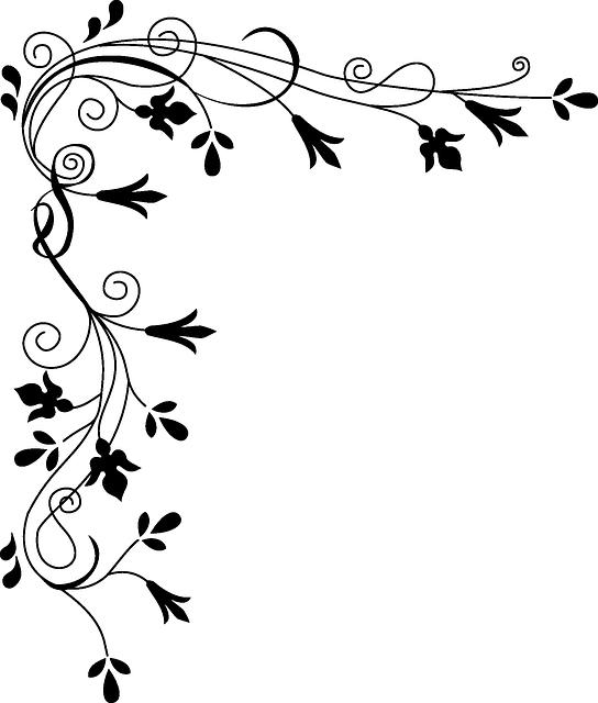 Lettre Decorative Noir