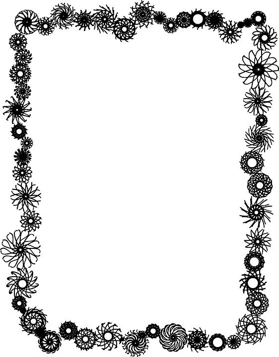 کادر نقاشی Border Decoration Flower · Free vector graphic on Pixabay