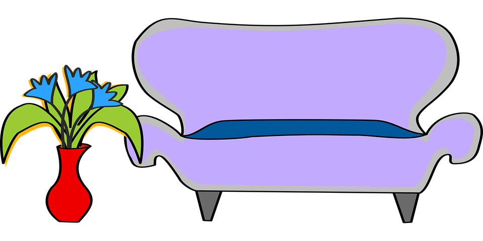 Flower Sofa Furniture · Free vector graphic on Pixabay