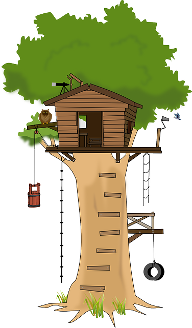 Free vector graphic: Tree, Treehouse, Woodhouse, Wood ...
