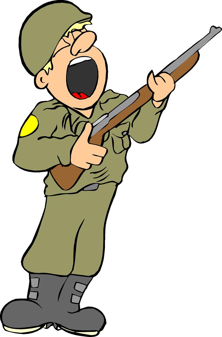 Рисованные картинки с солдатом