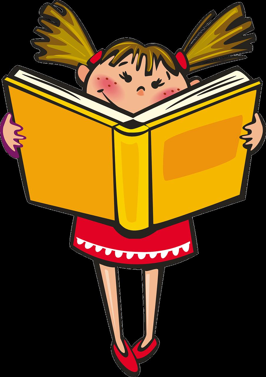 Картинка ребенок читает анимашки, для