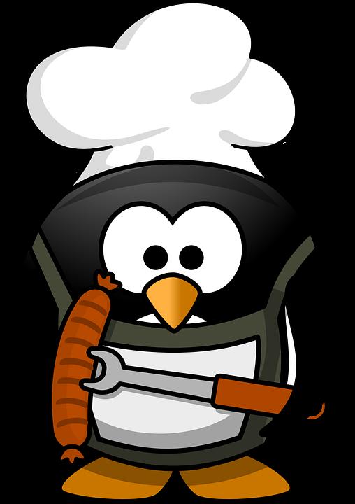 kostenlose vektorgrafik pinguin grillen tier lustig tux kostenloses bild auf pixabay 160159. Black Bedroom Furniture Sets. Home Design Ideas
