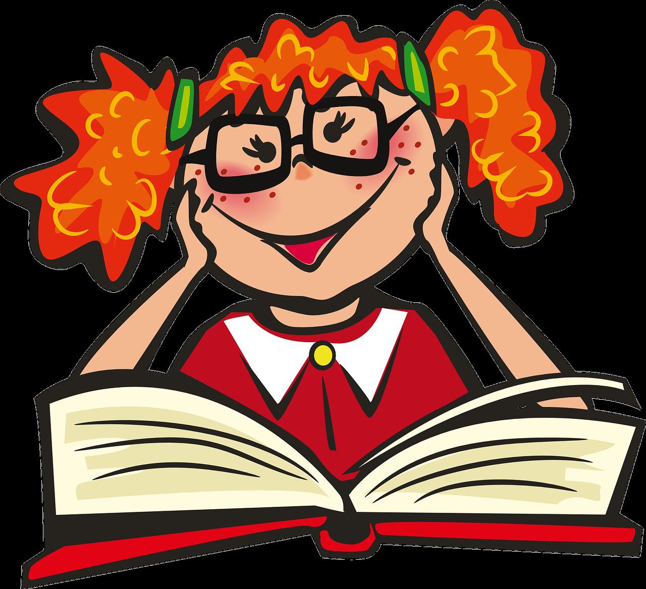 Открытка, веселые картинки о книгах