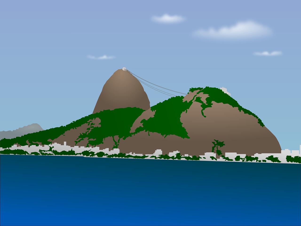 Zuckerhut Rio De Janeiro Brazilien Kostenlose Vektorgrafik Auf Pixabay