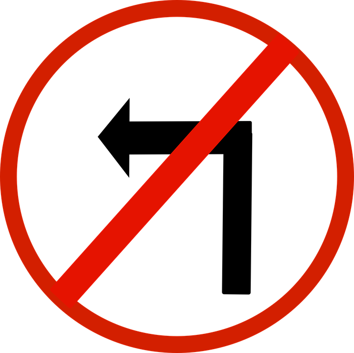 Free vector graphic: No Turn Left, Left, Arrow, Sign ...