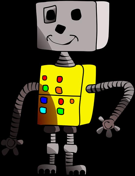 Robot Smile Childlike Free Vector Graphic On Pixabay