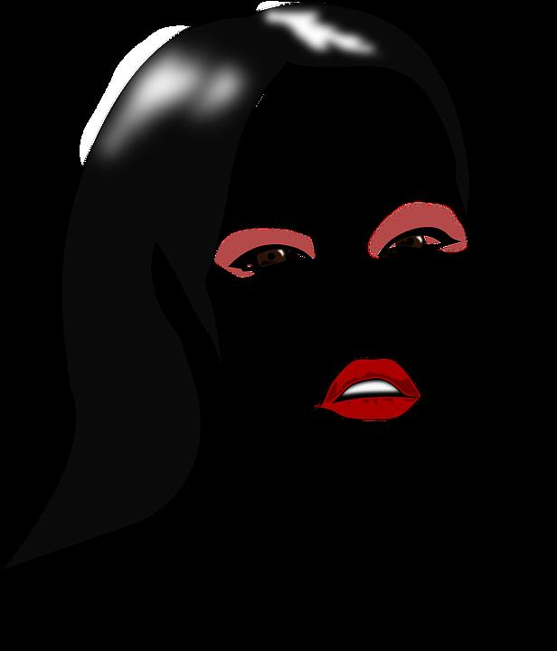 Woman Face Line Drawing Png : Imagem vetorial gratis mulher menina beleza rosto
