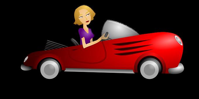 Automobile, Woman, Blond, Car, Driver