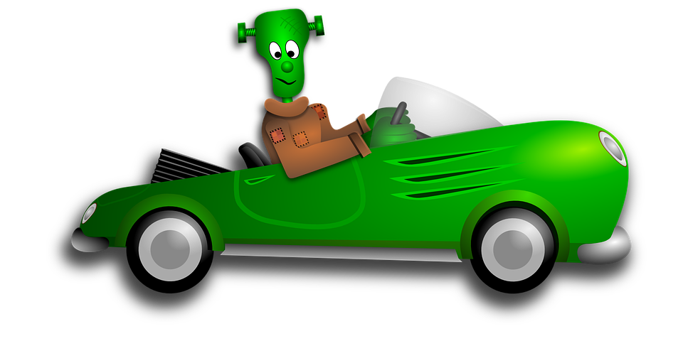 frankenstein halloween automobile free vector graphic on pixabay