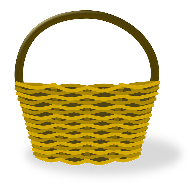 Empty Metal Gift Baskets : Free vector graphic basket empty ping image