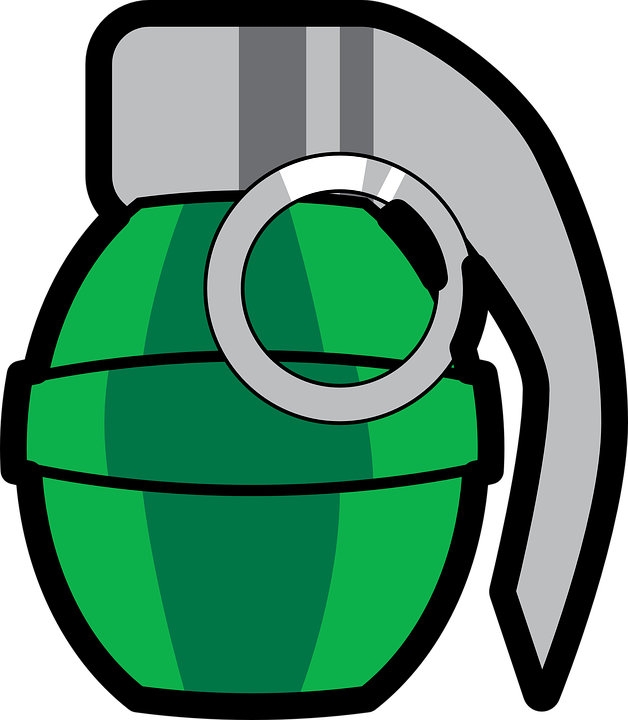 Free Vector Graphic Grenade Bomb Explosion Weapon