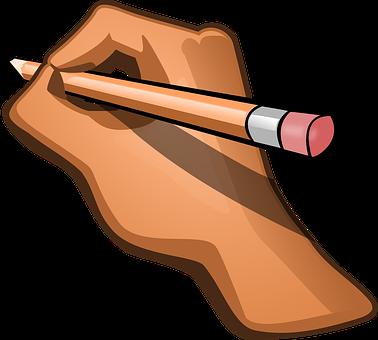Hand, Pencil, Pen, Edit, Eraser, Write,anime logo,online anime