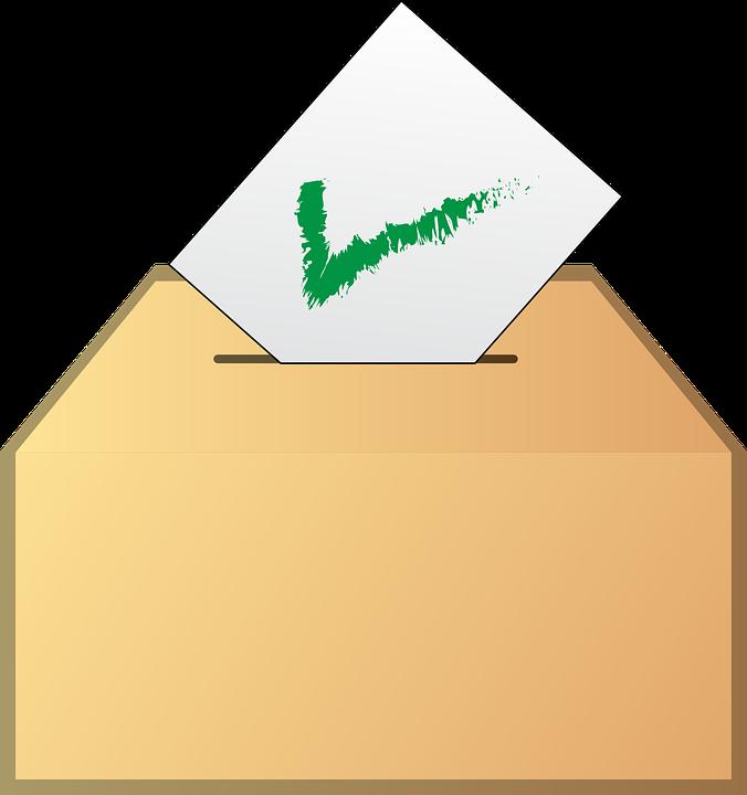 Stimmzettel, Abstimmung, Ja, Wahl, Umschlag