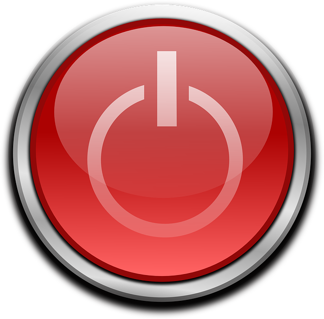 Free Vector Graphic Button Power Computer Start Red