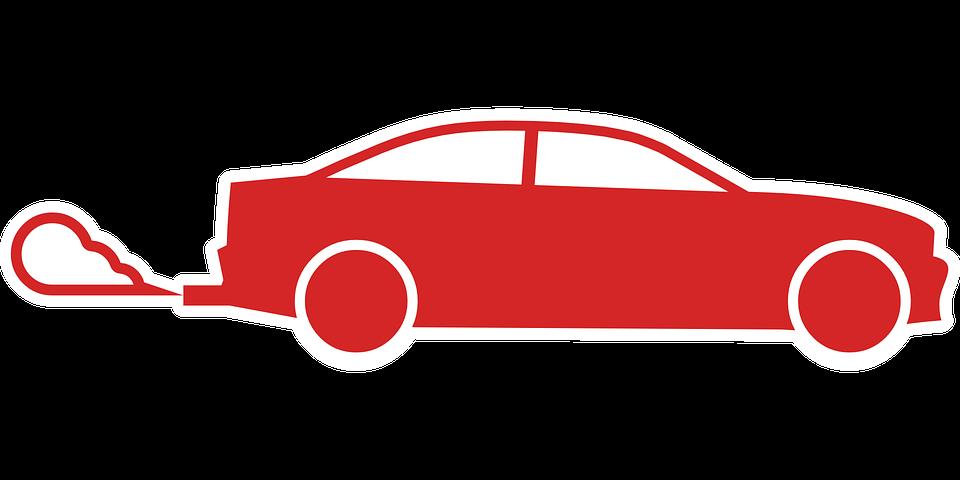 Car, Red, Air, Pollution