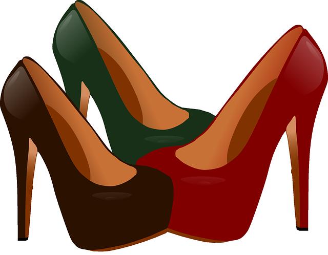 image vectorielle gratuite talons hauts chaussures red. Black Bedroom Furniture Sets. Home Design Ideas