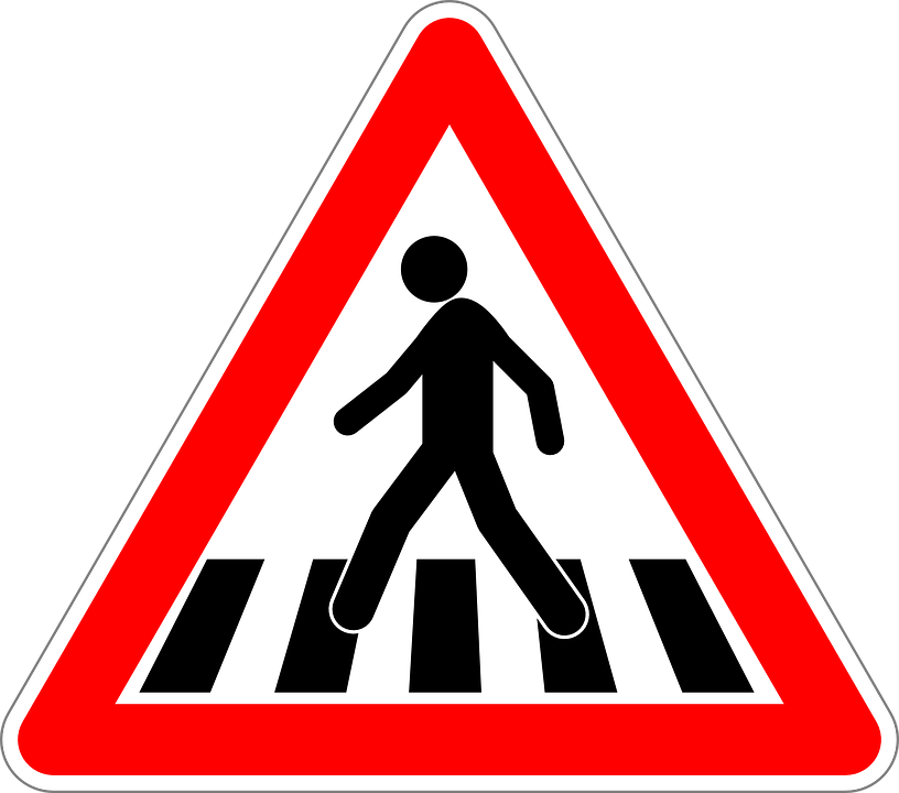 pedestrian crossing traffic sign 183 free vector graphic on