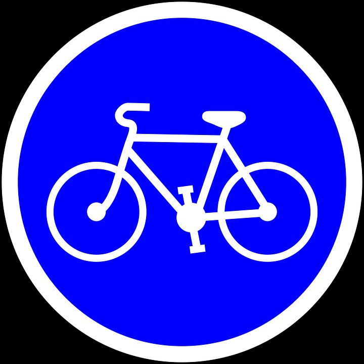 Kostenlose Vektorgrafik Radweg Fahrrad Radfahren