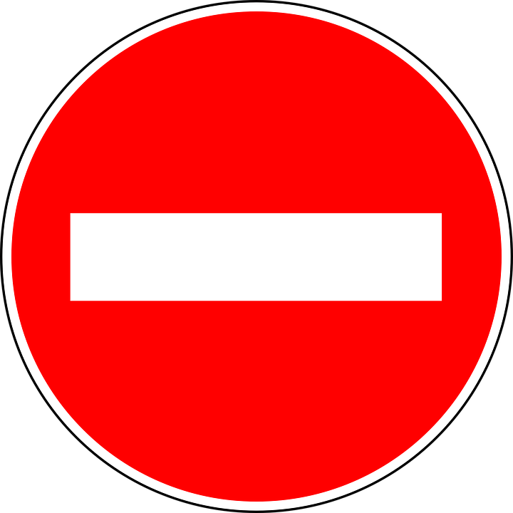 free vector graphic no entry traffic sign sign free