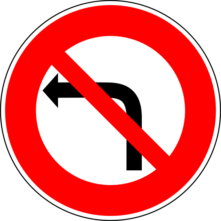 Free Vector Graphic No Left Turn Traffic Sign Sign