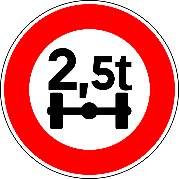 axle load limit sign  u00b7 free vector graphic on pixabay