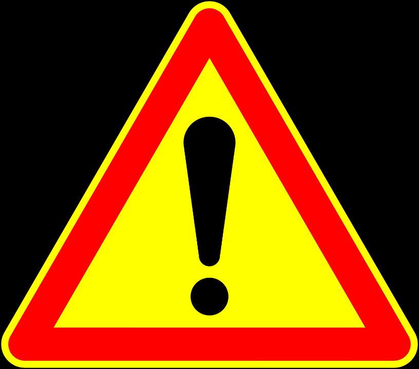 Attenzione, Segno, Cartello Stradale, Roadsign