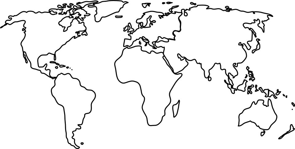 Free Vector Graphic World World Map Earth Continents Free - Earth map outline