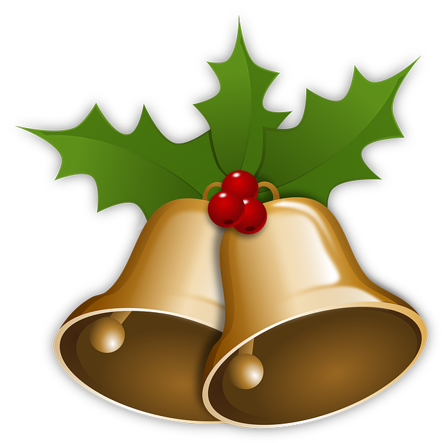 Free Vector Graphic: Bells, Christmas, Xmas, Holly