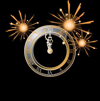 Clock, Firework, Silvester